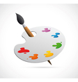 Painters palette cartoon vector image