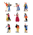 parents and adult children set mother and father vector image vector image