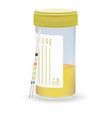 ph test strips litmus paper and urine in test jar vector image vector image