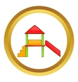 Playhouse with slide icon