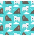 Polar Bear and Walrus Seamless Pattern vector image vector image