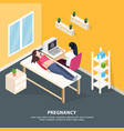 pregnancy examination isometric background vector image vector image