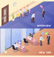 recruitment and job compositions vector image vector image