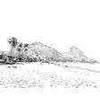 red beach rio de janeiro brazil vector image