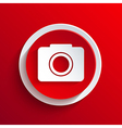 red circle icon Eps10 vector image vector image