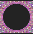 round floral frame design - border graphic element vector image vector image