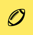 rugby ball line icon football american vector image vector image