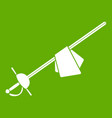 saber icon green vector image vector image
