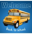 School bus on blue vector image vector image
