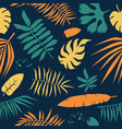 seamless pattern with tropical plant leaf vector image vector image