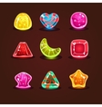 Set of Bright Cartoon Candies vector image vector image