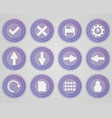 set of purple colored icons vector image vector image