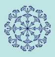 snowflake sign 2511 vector image vector image