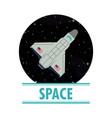 spaceship in the space vector image vector image