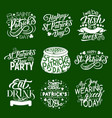 st patrick day irish traditional greeting icons vector image