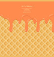 sweet colour glaze on wafer texture food vector image vector image