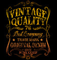 tee vintage graphic design vector image