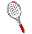 tennis racket on white background vector image vector image