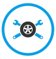 Tire Service Rounded Icon vector image
