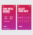 ui design application hotel vector image vector image