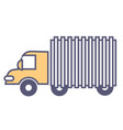 van or truck moving loads logistics services vector image vector image