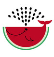 watermelon icon flat watermelon - whale produces vector image vector image