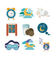 white background with colorful elements sleep time vector image