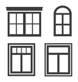 window icons on white background vector image