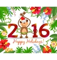 Year of monkey 2016 vector image vector image