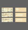 airplane bus train tickets concept design vector image
