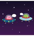 Aliens in space vector image