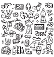 raphip hop - doodles vector image