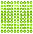 100 glasses icons set green circle vector image vector image