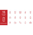 15 refreshment icons vector image vector image
