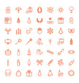 49 christmas icons vector image vector image