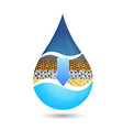 a drop of water symbol for filtering vector image vector image
