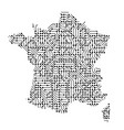 abstract schematic map of france from the black vector image vector image