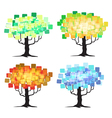 Abstract trees Four seasons vector image