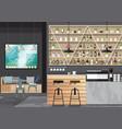 bar interior design vector image vector image
