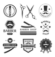 Barber shop logo labels badges vintage vector image vector image