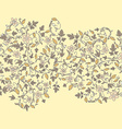 barberry pattern seamless floral texture with vector image vector image
