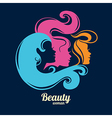 Beautiful girl silhouettes vector image