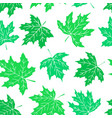 beautiful seamless doodle pattern with green vector image vector image