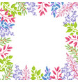 branches of spring plants as frame for banner vector image