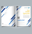 brochure template technology geometric blue color vector image