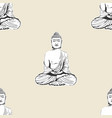 buddha head pattern seamless tile background vector image