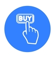 Buying click icon in black style isolated on white vector image