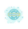 cartoon colored made in germany icon in comic vector image vector image