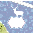Christmas deer template card EPS 8 vector image vector image