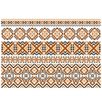 Close up cross stitch ethnic borders and patterns vector image vector image